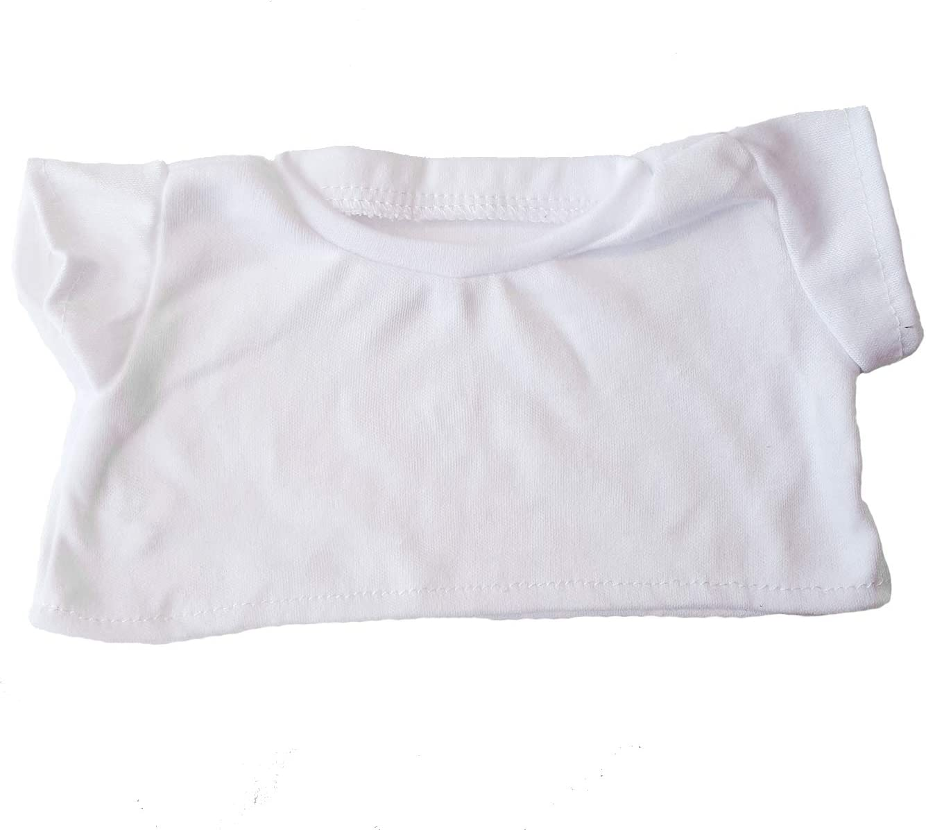 "B0037NVU2E White Basic Tee Shirt Teddy Bear Clothes Fit 14"" - 18\"" Build-a-bear, Vermont Teddy Bears, and Make Your Own Stuffed Animals 61Qeue5lFjL"