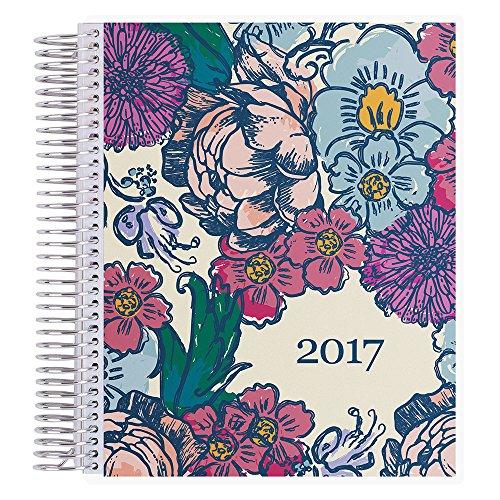 Erin Condren Deluxe Monthly Planner-Floral Ink