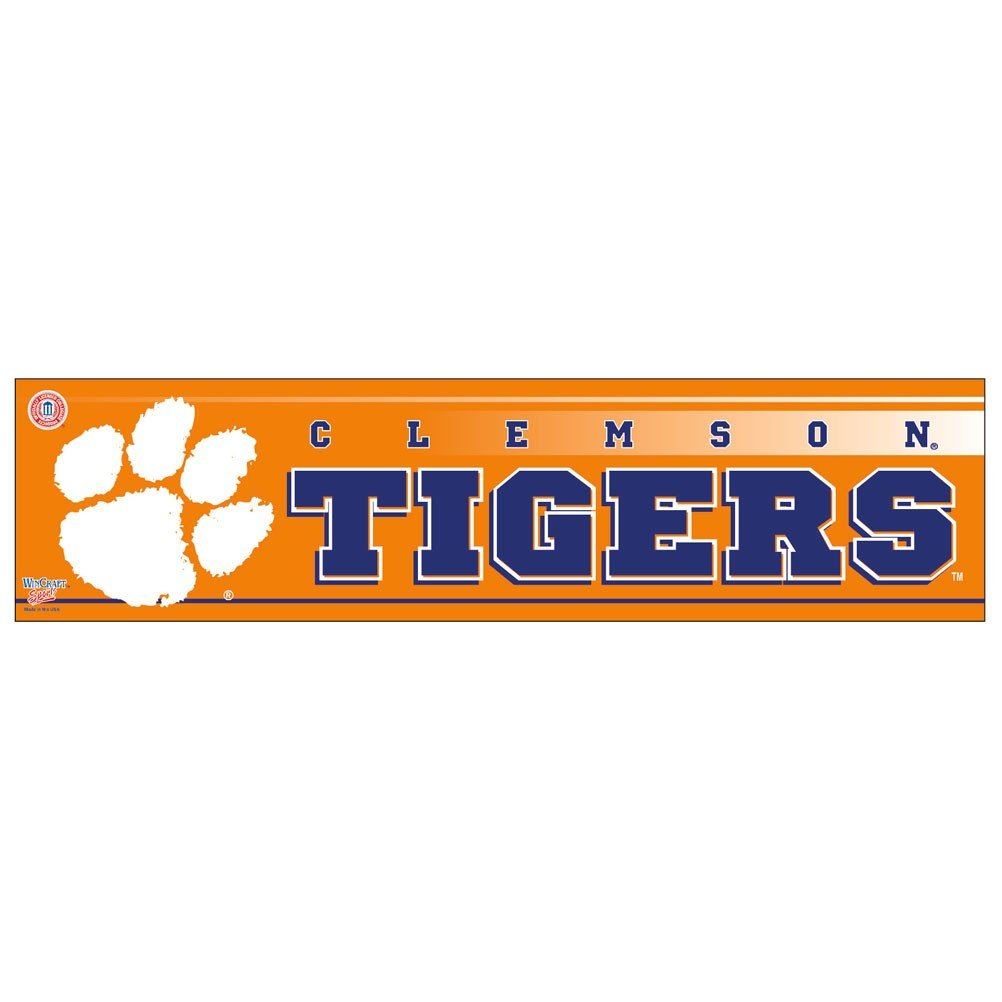 WinCraft NCAA Clemson University WCR13215251 Bumper Strip 3 x 12