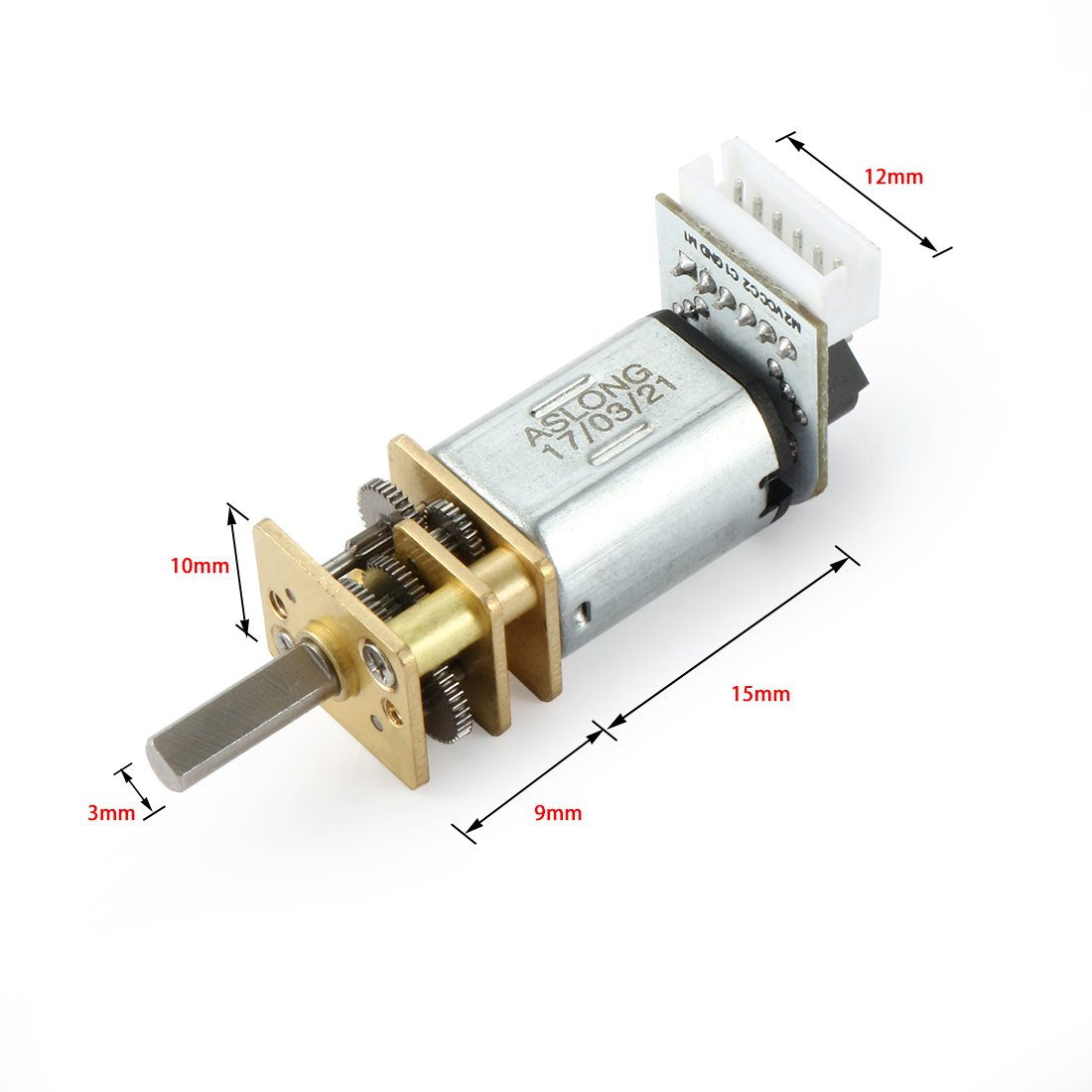 uxcell Uxcell R Electrical Machine 15RPM DC 3V 0.3A Geared Motor for Robot Wheel DIY Toys