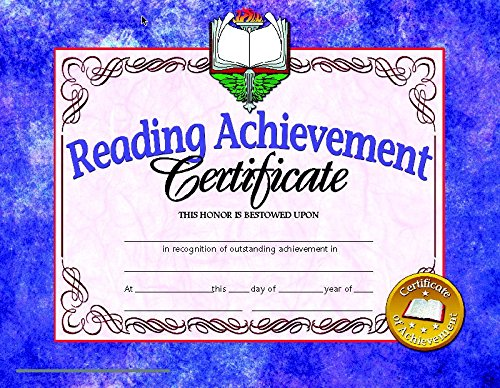 Hayes Reading Achievement Certificate, 8-1/2 X 11 in, Paper, Pack of (Reading Achievement Certificate)