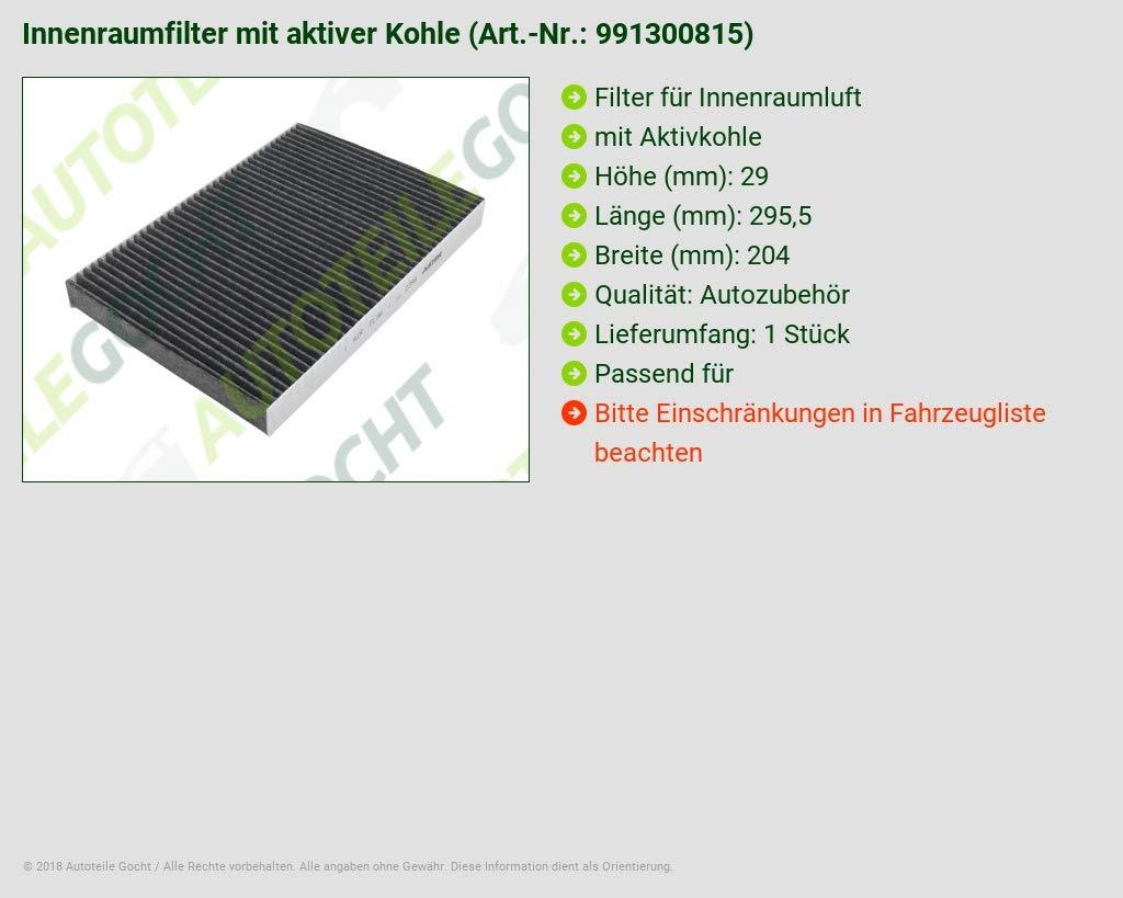 Innenraumfilter Aktivkohle für Audi A4 A6 Avant Seat Exeo ST