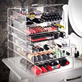 SortWise ® XL Removable Drawer Extra Large Clear Acrylic Cosmetic Makeup Organizer Cube Display Case Container Cabinet for Cosmetics Beauty Nail Polish Bathroom Storage Office Supplies (6 Drawers, X-Large)