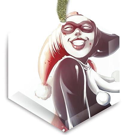 harley quinn joker batman dc comics g316 cyrstal christmas ornament