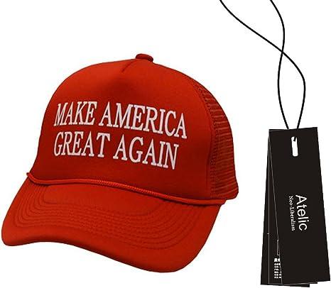 Atelic - Gorra ajustable bordada con la frase de Donald Trump ...