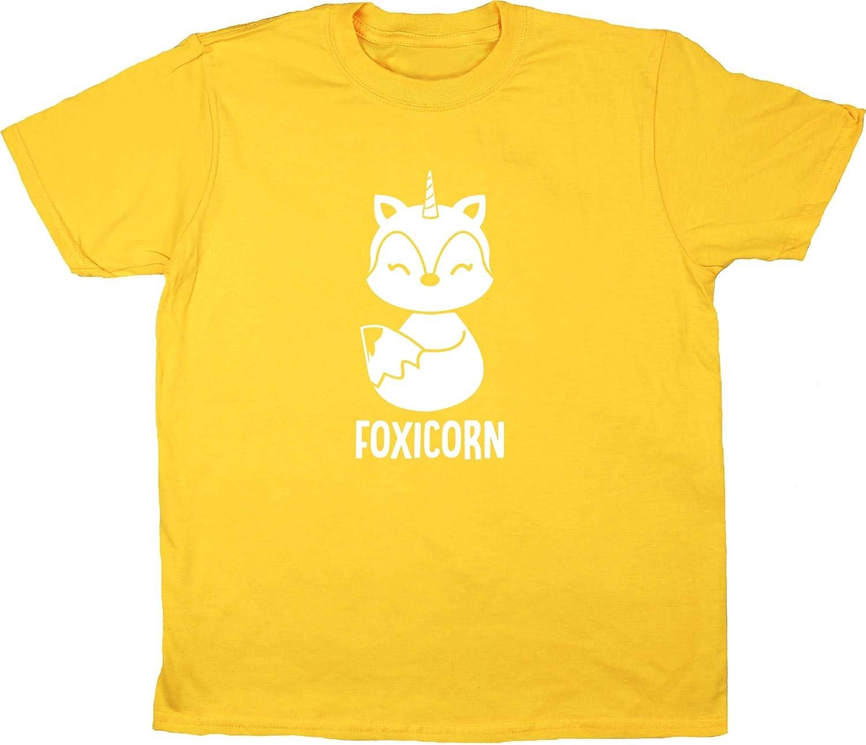Hippowarehouse Foxicorn Fox Unicorn Kids Childrens Short Sleeve t-Shirt