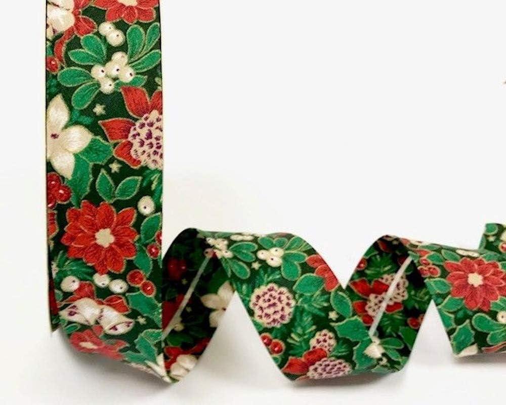 Biais de No/ël 30 mm x 2 m Ce charmant biais peut /être utilis/é pour tous les types de projets de couture et did/ées dartisanat.