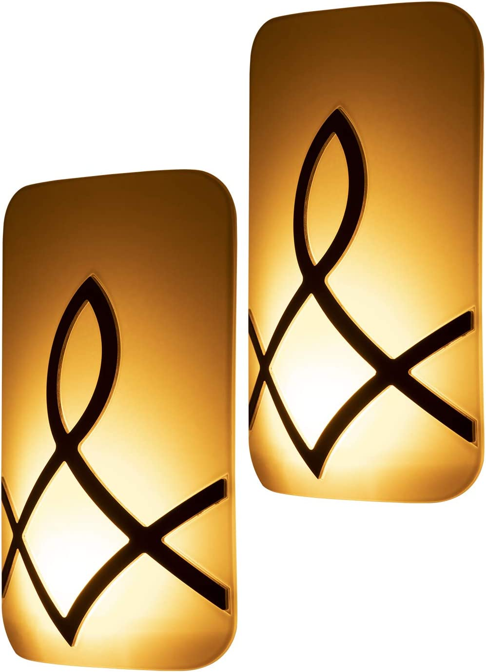 GE Enbrighten SleepLite LED Amber Night Light, 2 Pack, Candle Glow, Hi/Low Dimmable, Dusk-to-Dawn, Melatonin, Natural Sleep Aid, Ideal for Bedroom, Nursery, Bathroom, Oil-Rubbed Bronze, 46453