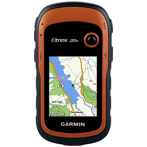 Garmin eTrex 20x Outdoor Handheld GPS Unit with TopoActive Western Europe Maps,Black/Orange