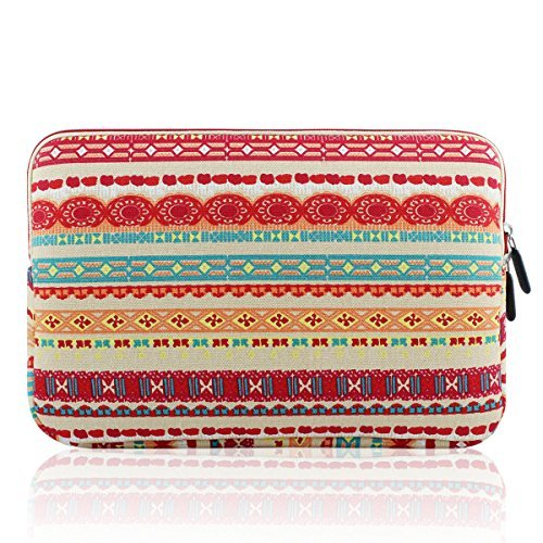 Kamor Bohemian Style Canvas Fabric Sleeve for 15.6-Inch MacBooks - Lantern Pattern