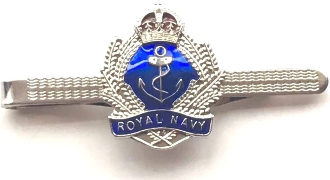N4 Emblems-Gifts Personalised Gift Boxed Royal Navy Military Enamel Crested Tie Slide
