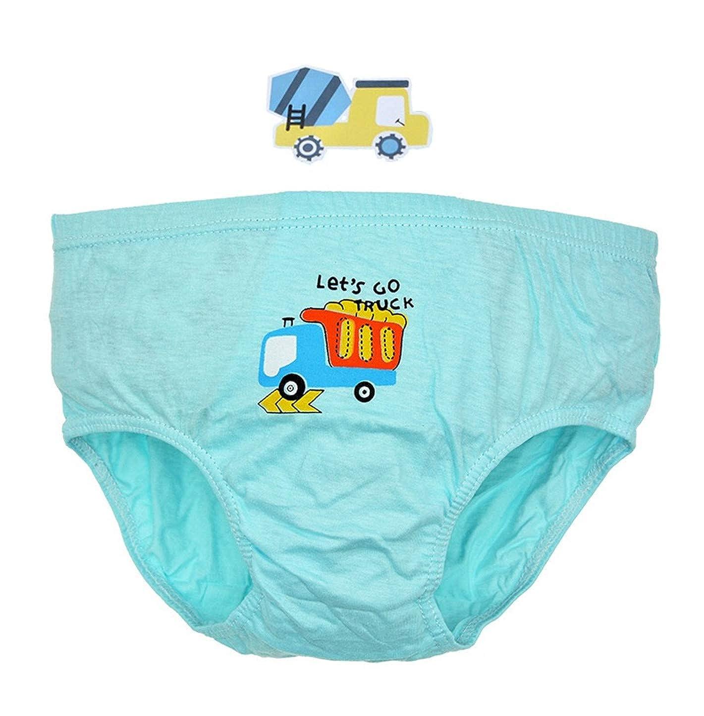 Pack Of 5 Fashion 1938 Boys Cartoon Printed Briefs 100 Cotton Underwear For Toddler Boys Clothing Underwear