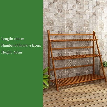 YAHAO Escalera para Flores De Bambú Estantería Decorativa para Macetas Soporte para Plantas Exterior Interior Jardín con 3/4 Niveles,3layers-100cm: Amazon.es: Hogar