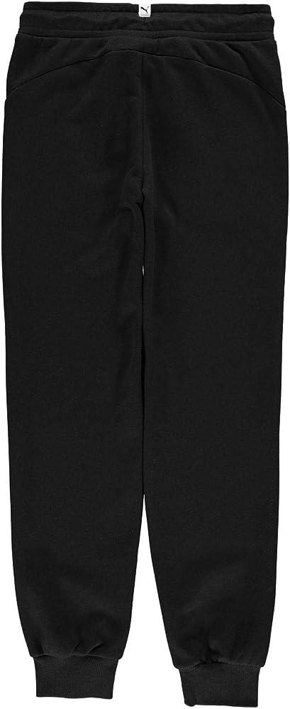 Puma - Pantalones de chándal para niña con Logo Impreso Negro/Rosa ...