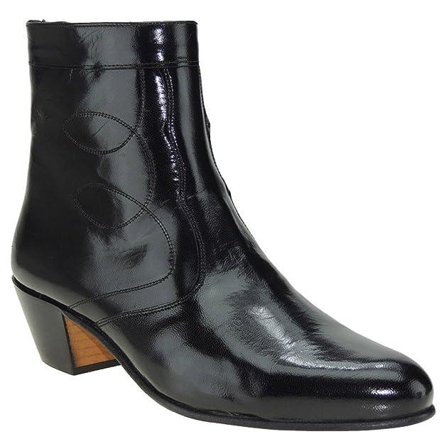 MARTTELY Design 508 Bota Vestir en Piel Caprina y Tacón Cubano de 5 CM para Hombre: Amazon.es: Zapatos y complementos