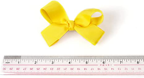 3D California Tot Premium Faux Suede jojo Bow Hair Clips for Toddler Girls