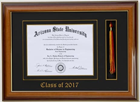 Amazon.com - Diploma Tassel frame 9x7 Walnut/Black 2017 ...