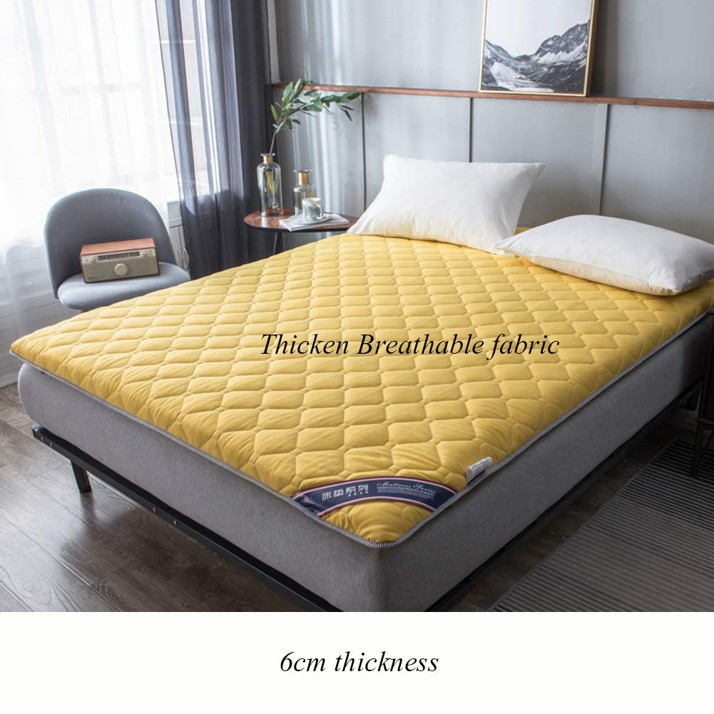 E 120x200cm(47x79inch) Foldable Futon Sleeping Floor Mat, 6cm Multi Size Roll Up Tatami Japanese Mattress Pad Topper Bed Roll for Student Dormitory Home -a 100x200cm(39x79inch)