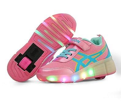 Kids Toddler Flash Jazzy Junior Girls Boys Light Roller Heelys Skate LED Shoes