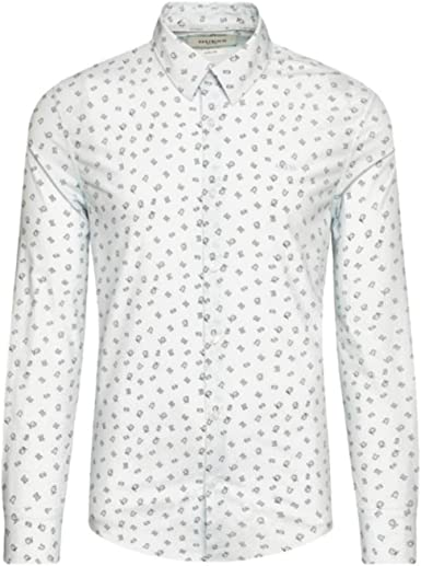 Guess Camisa Hombre Logos Slim fit (L): Amazon.es: Ropa