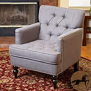 Great Deal Furniture Medford Fabric Club Chair w/Nailhead Accents