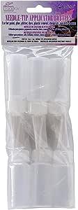 Darice Needle Tip Applicator Plastic Bottle, 1-Ounce, Pack of 6