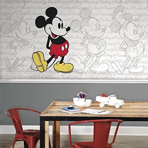 RoomMates Mickey Mouse - Classic Mickey Prepasted, Removable Wall Mural - 6' X 10.5' by RoomMates (Image #2)
