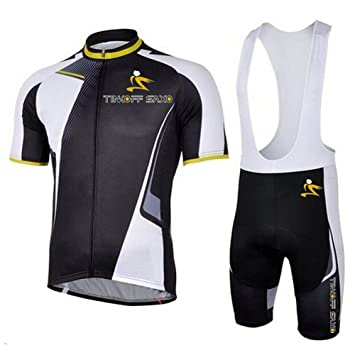 f1f0788de Outdoor Sports Pro Team Men s Short Sleeve Giant Cycling Jersey and Bib  Shorts Set46 (L)