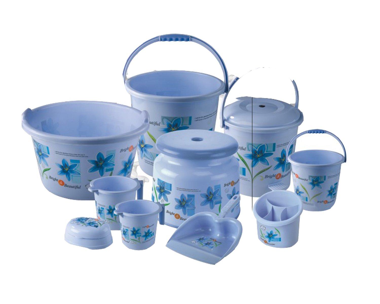 Joyo Bathroom Set Jumbo Printed Bucket 5, Bucket 5, Pedal 5