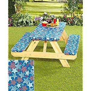 3-Pc. Picnic Table Covers (Americana Stars)