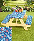 #10: 3-Pc. Picnic Table Covers (Americana Stars)