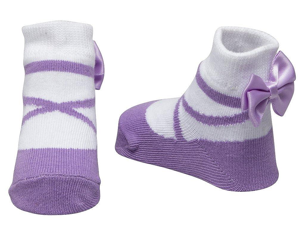 Con bolsita regalo Efecto zapatillas Baby Emporio 3 pares de calcetines para beb/é ni/ña 0-9 meses Suelas antideslizantes Algod/ón suave