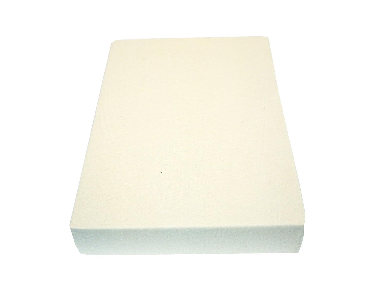 M/üskaan Jersey Spannbettlaken Bettlaken natur 70x140 cm