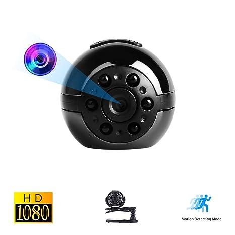 Mini Cámara Oculta Espía, Vaxiuja Ultra-Pequeña Ronda Diseño 1080P Full HD Cámara Portátil