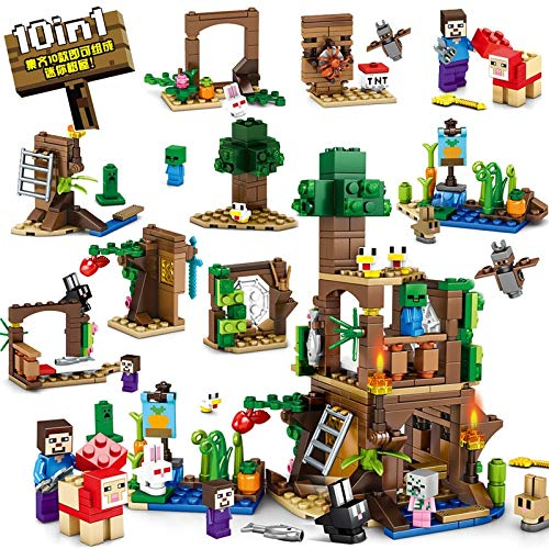 Best Quality 10in1 278pcs My World Building Sets Compatible legoingly minecrafted City Creator Bricks DIY Toys for Children
