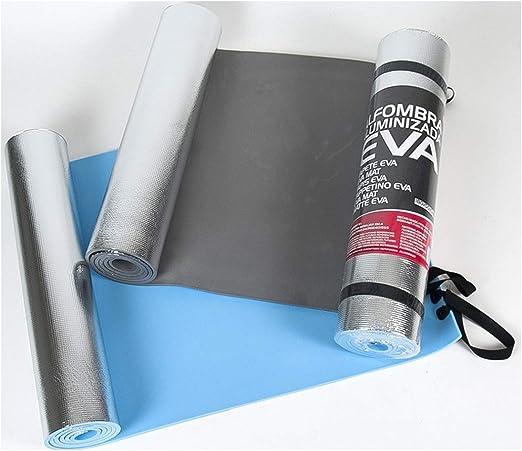 Multiusos Esterilla de Aluminio EVA para Acampada S.L Yoga Dormir a Prueba de Humedad Esterilla Aislante para Exteriores 50x180cm Color Negro. Cisne 2013