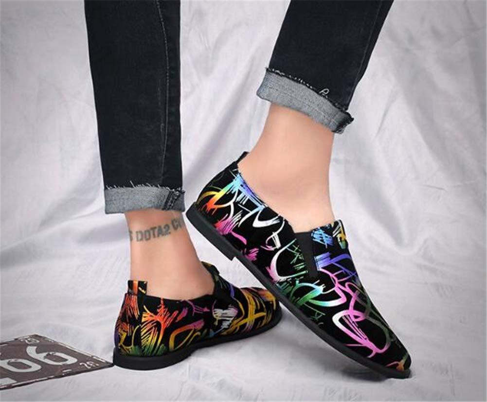 Scarpe da Uomo, Uomo Slip su Scarpe Capelli Notte Stilista Stilista Stilista di Cuoio, Moda personalità Uomini Scarpe Casual, British Grandi Dimensioni Uomo scarpe,A,42 5f9462