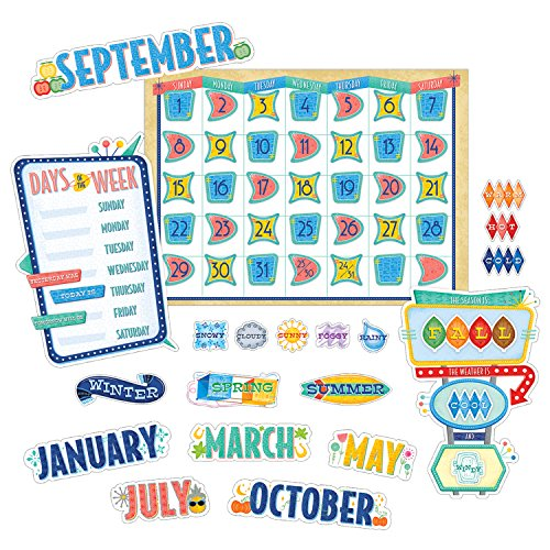 Creative Teaching Press Mid-Century Mod Calendar Set (8422) -