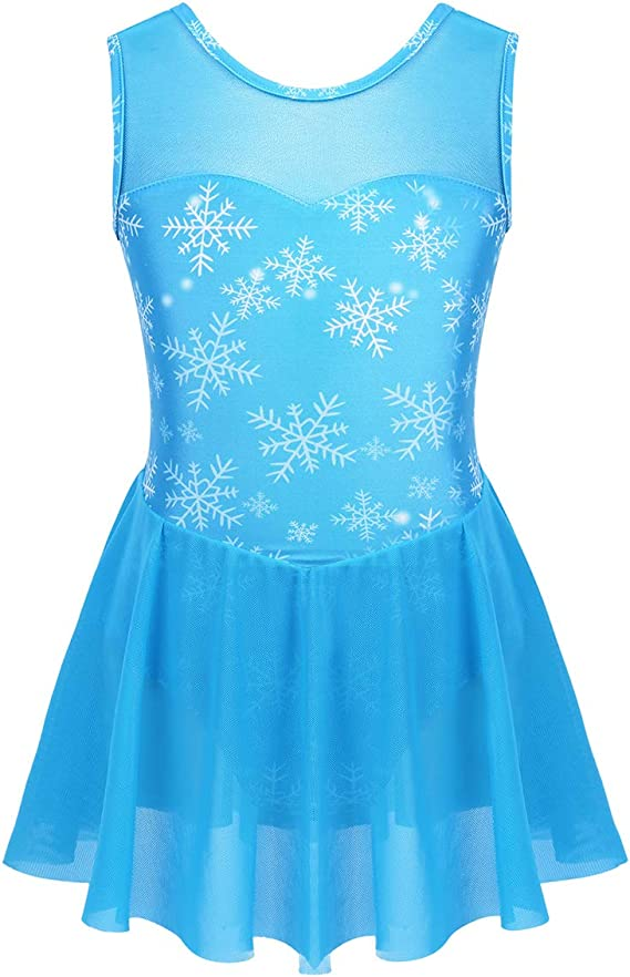 Agoky Vestido de Danza Ballet para Niña Maillot de Patinaje ...