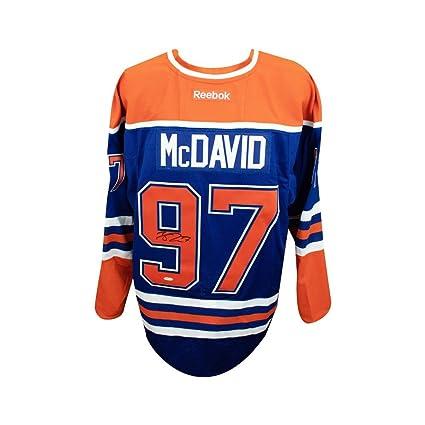 2c508d08603 Image Unavailable. Image not available for. Color: Connor McDavid  Autographed Blue Edmonton Oilers Authentic Reebok Jersey ...