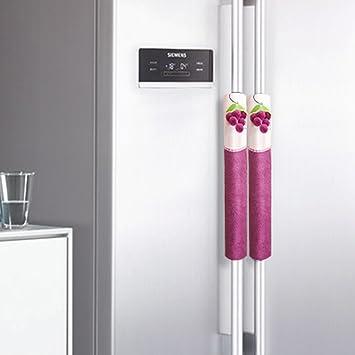 colorfog Juego de 2 Mango Cover/orejeras para frigorífico, Puerta ...