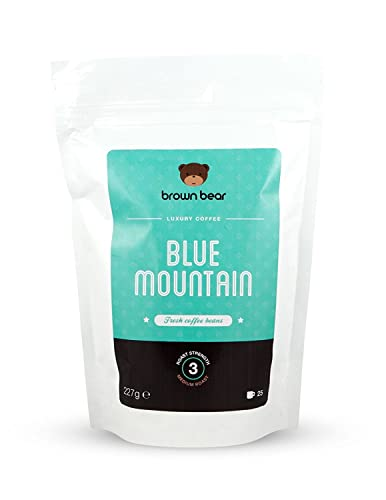 Brown Bear Blue Mountain Medium Roast Whole Bean Coffee 227 g
