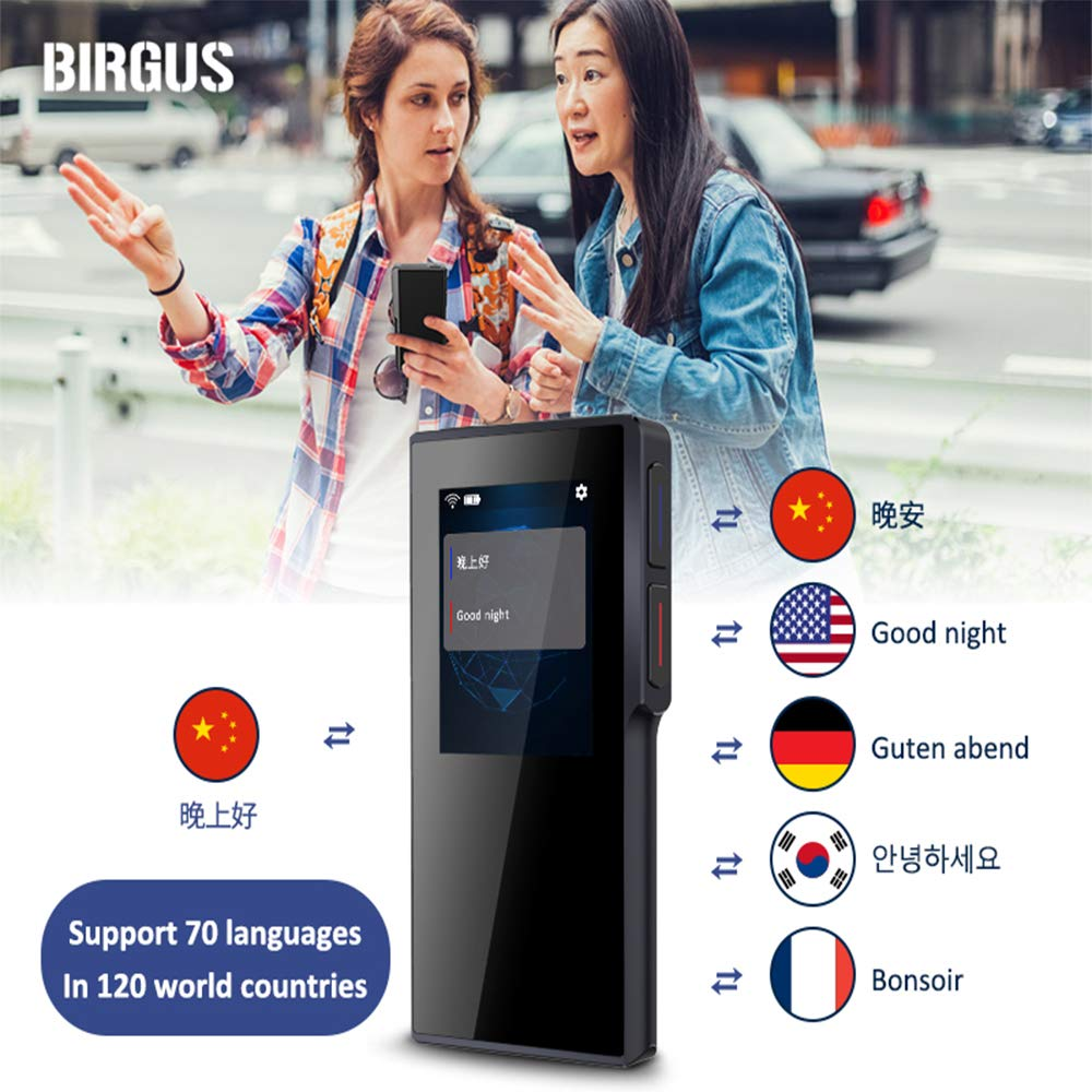 Birgus Smart Voice Translator Device,70 Languages Instant Two Way Translation with 2.4 Inch Touch Screen Portable for Travelling Learning Business Shopping Meeting by Birgus (Image #2)