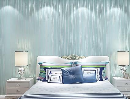 Amazon.com: XIAOLI& Simple Stripe Wallpaper Bedroom Non ...