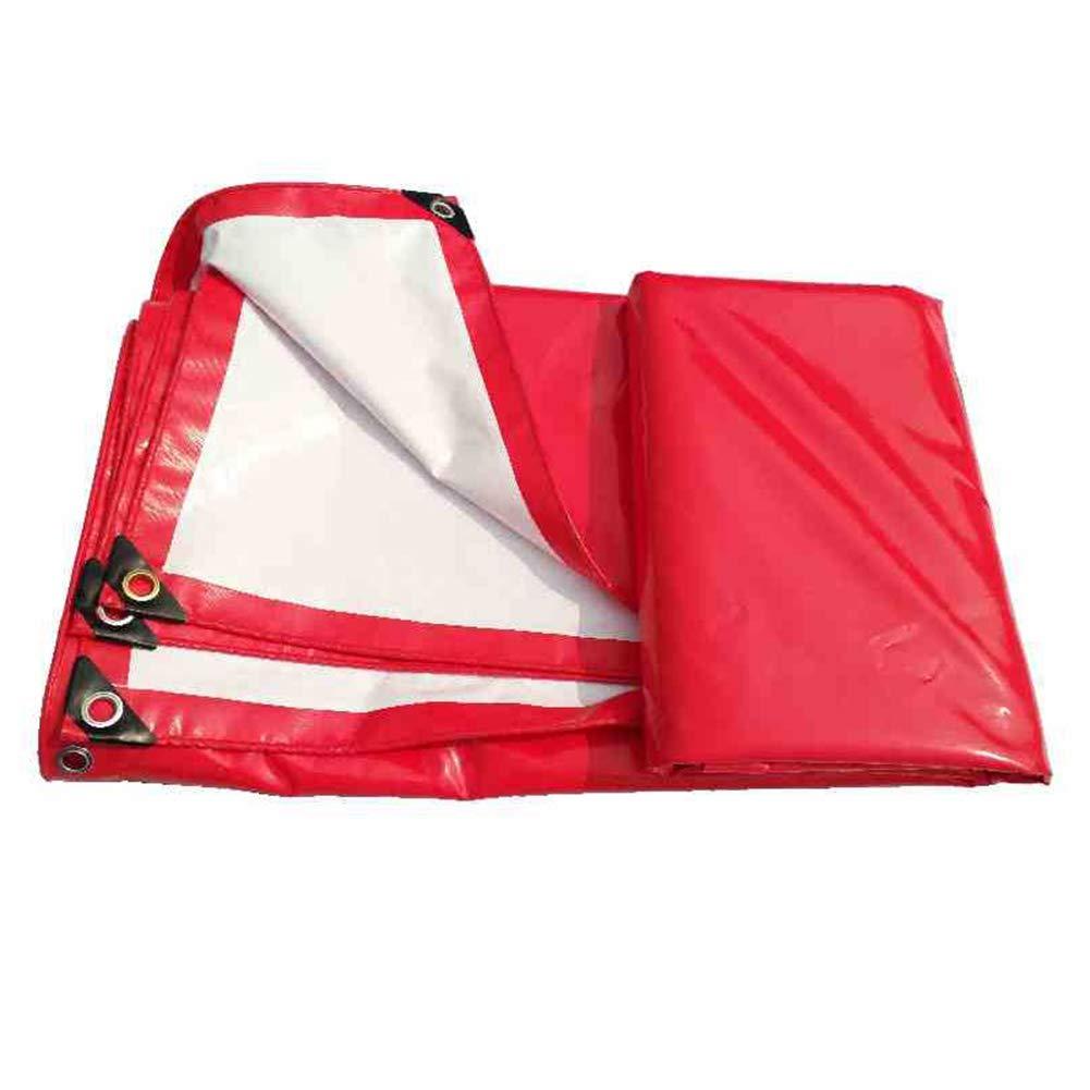 AJZXHE Roter und weißer Doppelnutzungszelt des Plane-Zeltes Wasserdichtes Tuch, imprägniern Wasserdichter Plane Feuchtigkeit-Beweis Fracht-Staubtuch -Plane