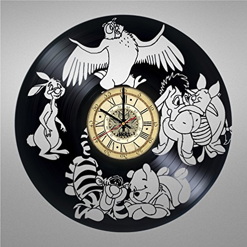 Vinyl Record Wall Clock for Fans of Cartoons - Get unique living room wall decor - Gift ideas for friends, teens, children, men and women, girls and boys - Awesome Animals Unique Art Design (Disney Photo Album 2011)