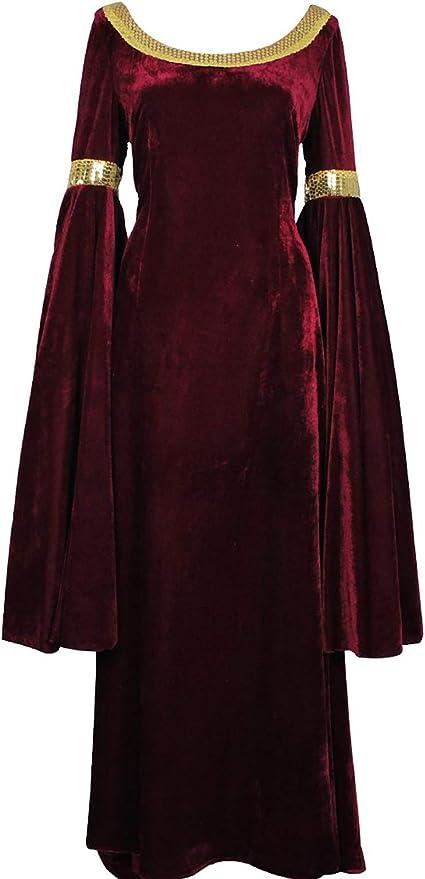 DERENcos Disfraz de Arwen de El Señor de los Anillos, Vestido Rojo ...
