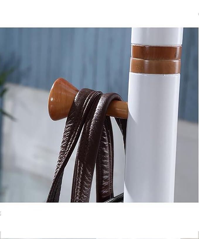 Amazon.com: KKCF - Perchero de pie (madera maciza, 8 ganchos ...