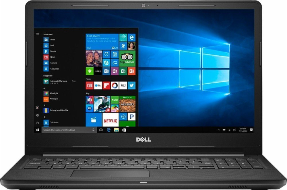 Dell Inspiron 15.6 inch HD Touchscreen Flagship High Performance Laptop PC | Intel Core i5-7200U | 8GB RAM | 256GB SSD | Bluetooth | WIFI | Windows 10 (Black) by Dell