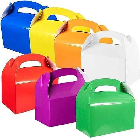 VGoodall - Cajas de cartón para Tartas (35 Unidades, 7 Cajas de Color arcoíris, 15,5 x 9 x 8,5 cm): Amazon.es: Hogar